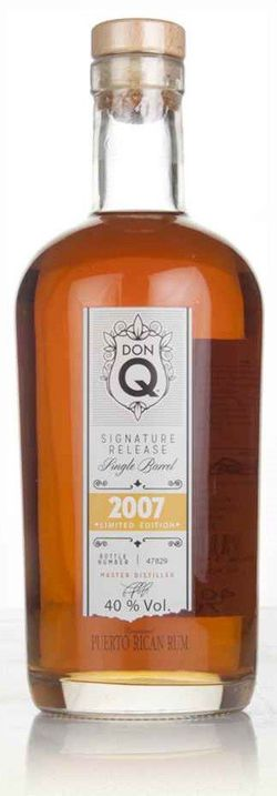 Don Q Signature Release Single Barrel 9y 2007 0,7l 40% L.E. / Rok lahvování 2016