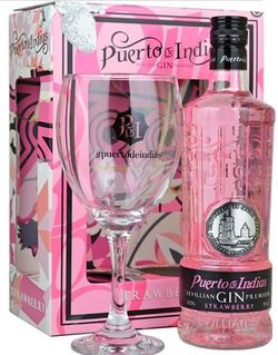 Puerto de Indias Strawberry 0,7l 37,5% + 1x sklo GB