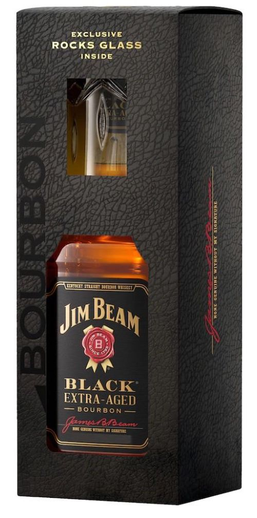 Jim Beam Black Extra Aged Bourbon 0,7l 43% + 1x sklo GB