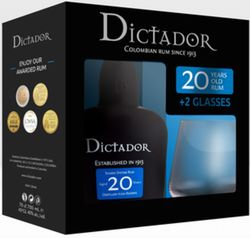 Dictador 20y 0,7l 40% + 2x sklo GB