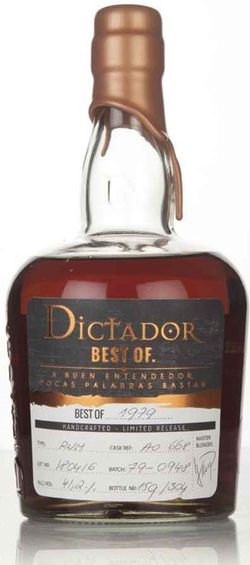 Dictador The Best of 40y 1979 0,7l 41% L.E. / Rok lahvování 2019